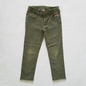 Carter's Army Green Raw Edge Skinny Jeans Girls 4T